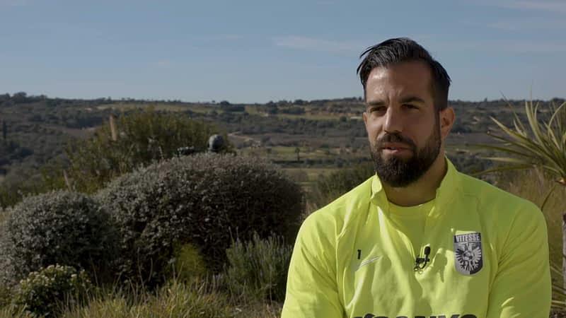 Screenshot uit de videoproductie met Kostas Lamprou voor Vitesse